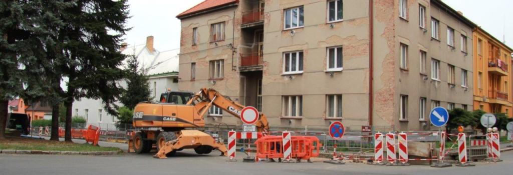 Obnova vodovodního řadu v ulici Jiřího z Poděbrad v Čáslavi