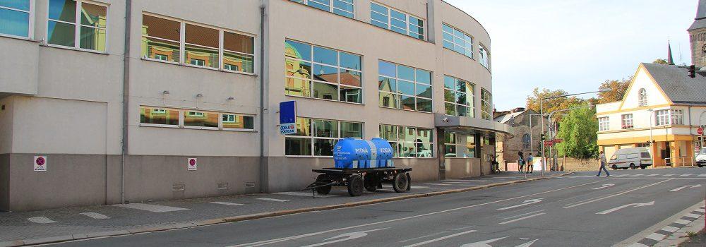 Náhradní zásobování pitnou vodou - rozmístění cisteren v Kutné Hoře