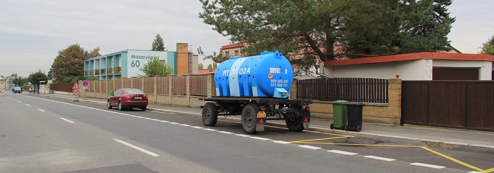 Náhradní zásobování pitnou vodou – rozmístění cisteren v Kutné Hoře