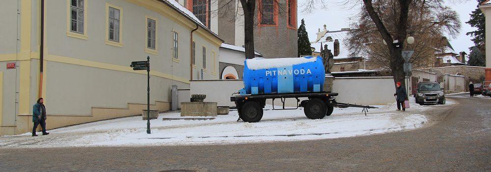 Porucha na vodovodním řadu v Kutné Hoře